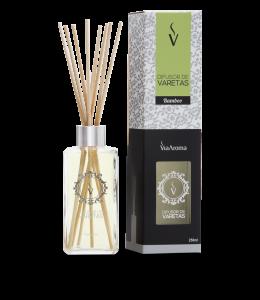Difusor Ambiente Via Aroma Aromatizador Vareta Stick 250ml Bamboo Angulo